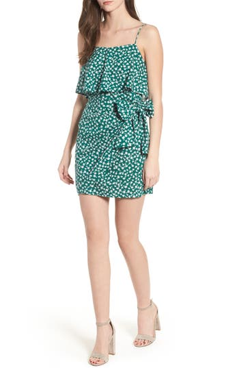 Women's Popover Wrap Front Dress, Size Small - Green