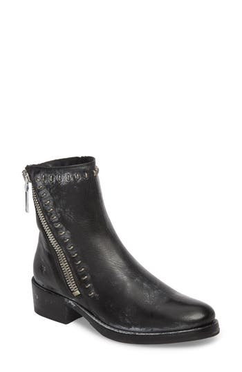 Frye Demi Rebel Zip Bootie- Black