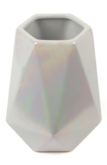 Core Home Geo Stoneware Vase, Size One Size - Ivory