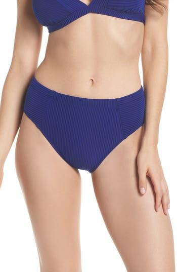 Becca High Waist Bikini Bottoms, Blue