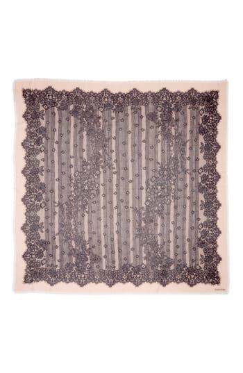 Women's Valentino Garavani Grand Hauteur Lace Print Wrap, Size One Size - Pink