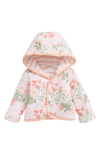 Infant Girls Burts Bees Baby Succulent Flowers Reversible Jacket