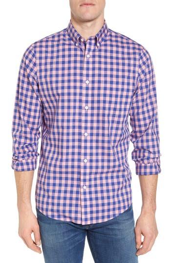 Nordstrom Shop Regular Fit Gingham Sport Shirt, Blue