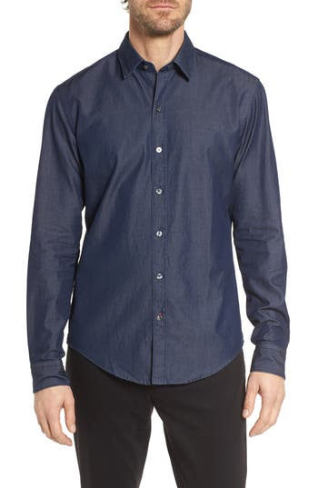 BOSS Robbie Regular Fit Denim Sport Shirt