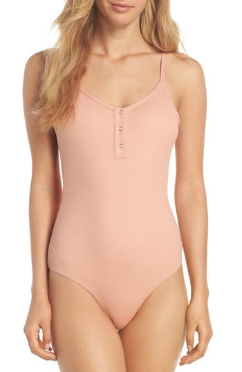 Tavik Lila Ribbed One-Piece Swimsuit, Pink