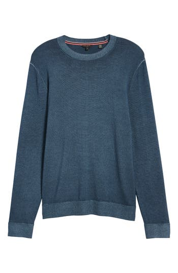 Ted Baker London Lucky Trim Fit Wool Sweater, (m) - Blue