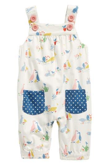 Toddler Girls Mini Boden Jersey Overalls