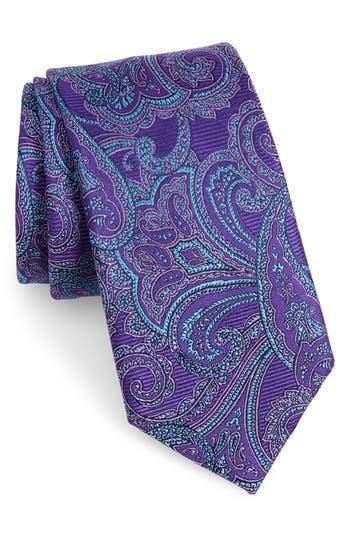 Men's Nordstrom Men's Shop Avalon Paisley Silk Tie, Size X-Long - Purple