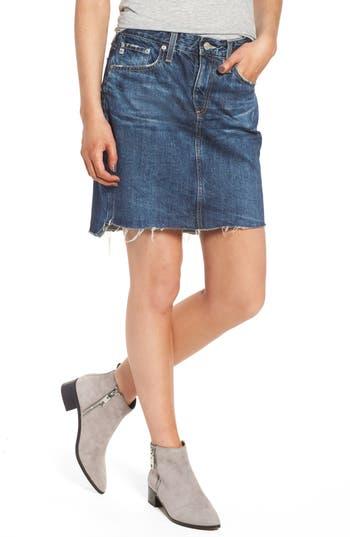 AG Erin Step Hem Denim Skirt