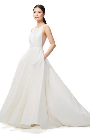Jenny by Jenny Yoo Ashton Plunge Back A-Line Gown