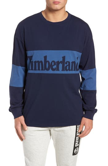 Timberland Logo Graphic T-Shirt, Blue