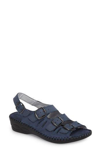 David Tate Luna Slingback Wedge Sandal, Blue