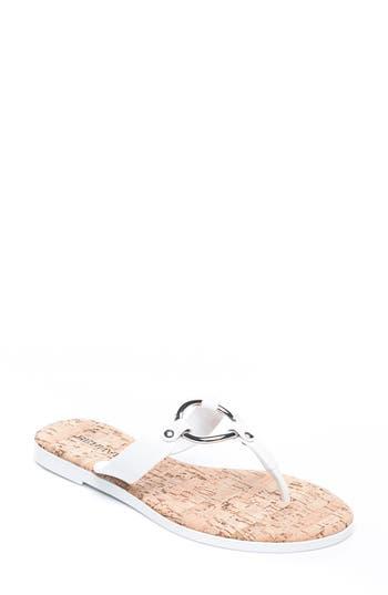 Bernardo Footwear Matrix Flip Flop, White