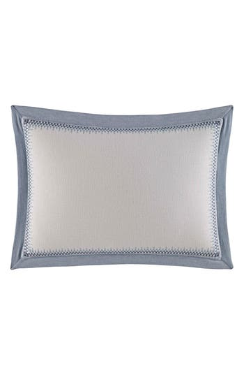 Nautica Abbot Embroidered Accent Pillow, Size One Size - Blue