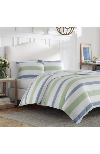 Nautica Norwich Duvet Cover & Sham Set, Size Twin - Blue