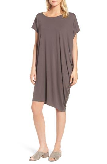 Eileen Fisher Asymmetrical Jersey Shift Dress, Grey