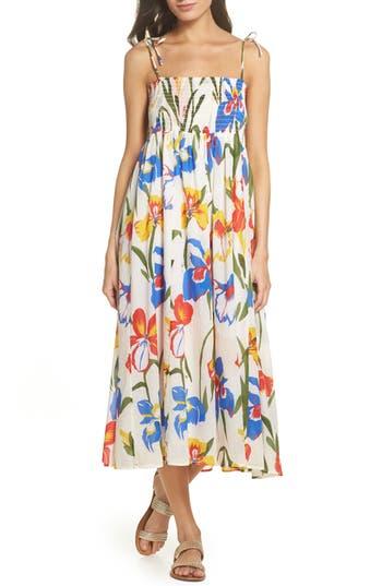 Tory Burch Painter Iris Convertible Cover-Up Dress, Purple
