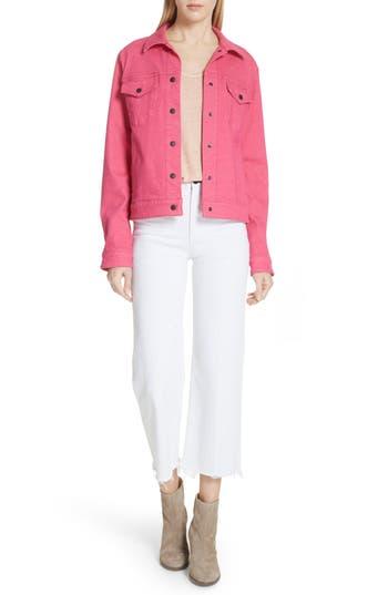 Women's Rag & Bone/jean Nico Denim Jacket, Size X-Small - Pink