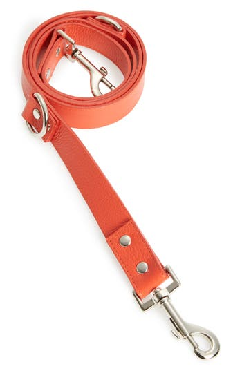Lovethybeast Leather Leash, Size Small - Red