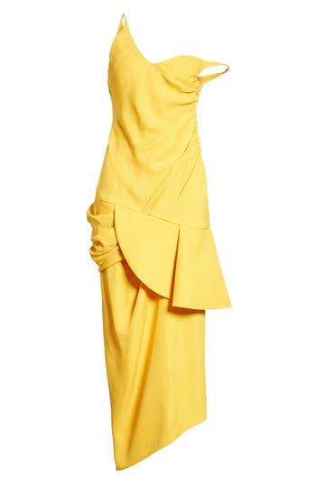 Women's Jacquemus Sol Off The Shoulder Midi Dress, Size 6 US / 38 FR - Yellow