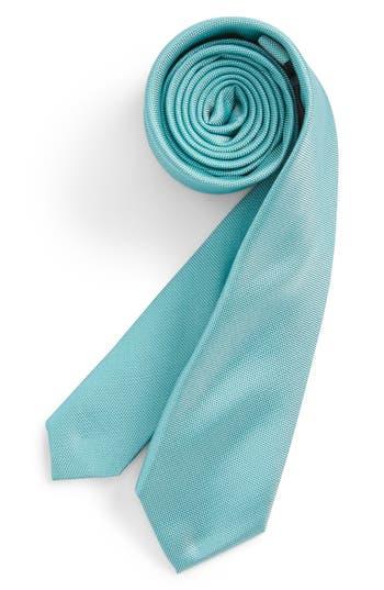 Boy's Nordstrom Natte Weave Silk Tie, Size Big Boy - Blue/green