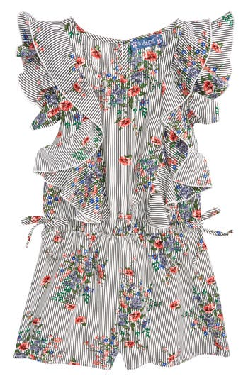 Girls Truly Me Floral Ruffle Romper