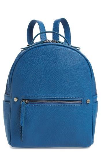 Mali + Lili Hannah Vegan Leather Backpack - Blue