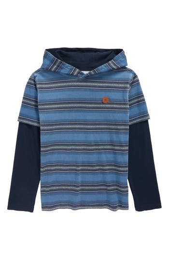 Boys Quiksilver Haleiwa Layered Hooded Pullover
