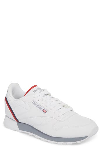men's reebok classic leather mu sneaker, size 14 - white