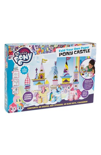 Girls Paper Punk My Little Pony Fold Your Own Paper Pony Castle Kit