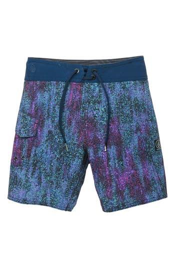 Boys Volcom Plasm Mod Board Shorts Size 5  Blue