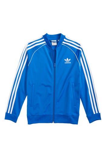 Boys Adidas Originals J Track Jacket Size L  1416  Blue