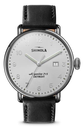 Shinola The Canfield Alligator Strap Watch, 43mm