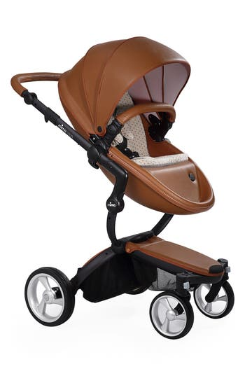 Infant Mima Xari Black Chassis Stroller With Reversible Reclining Seat  Carrycot Size One Size  Brown