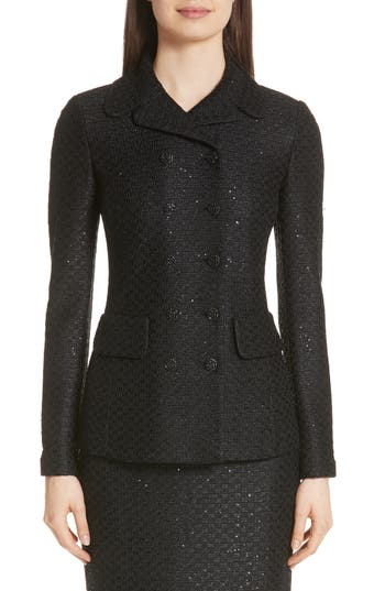 Women's St. John Collection Shimmer Sequin Knit Jacket
