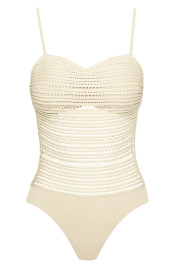 Robin Piccone Perla Badeau One-Piece Swimsuit, White