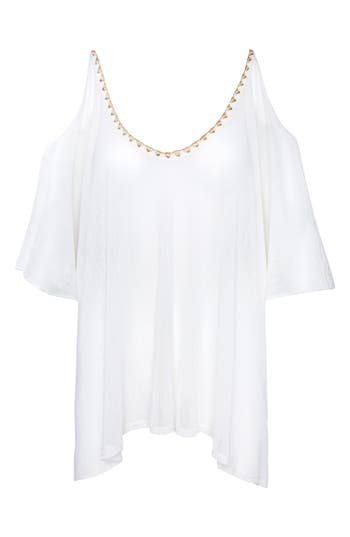 Robin Piccone Francesca Cover-Up Tunic, Ivory