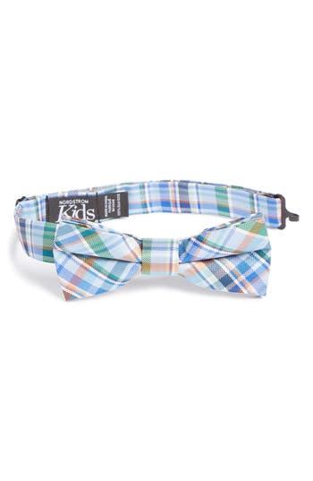 Boys Nordstrom Campbell Plaid Silk Bow Tie Size Big Boy  Blue