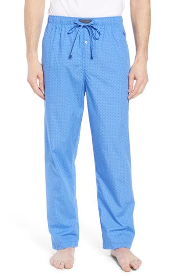 Polo Ralph Lauren Dot Cotton Pajama Pants, Blue