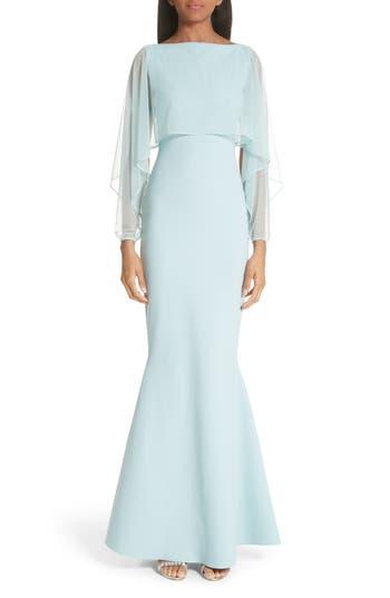 Chiara Boni La Petite Robe Illusion Overlay Trumpet Gown