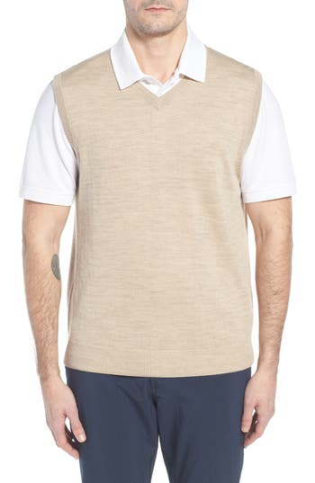 Cutter & Buck 'Douglas' Merino Wool Blend V-Neck Sweater Vest