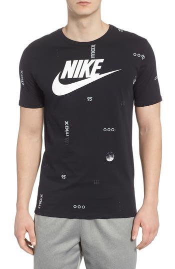 Nike Sportswear Air Max Print T-Shirt, Black