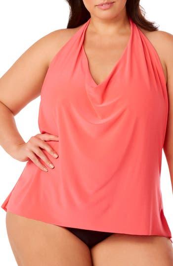 Plus Size Magicsuit Sophie Underwire Tankini Top, Orange