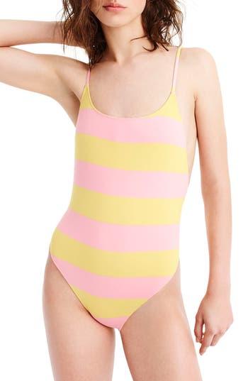 J.crew Playa Super-Scoopback One-Piece Swimsuit, Yellow