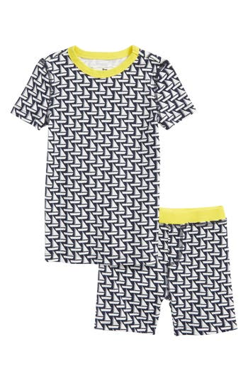 Toddler Boys Crewcuts By Jcrew Sailboat Fitted TwoPiece Pajamas Set