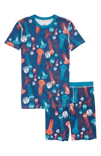 Toddler Boys Crewcuts By Jcrew Jellyfish GlowInTheDark Fitted TwoPiece Pajamas