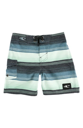Boys ONeill Santa Cruz Stripe Board Shorts Size S  4  Bluegreen
