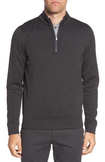BOSS Sidney Regular Fit Quarter Zip Pullover