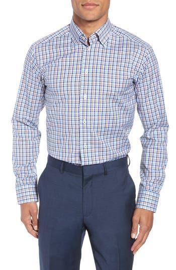 Men's Eton Contemporary Fit Plaid Dress Shirt