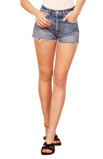 Reformation Dixie High Waist Cutoff Denim Shorts